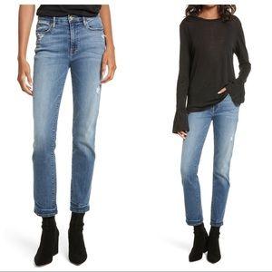 FRAME Le High Straight High Waist Crop Jeans